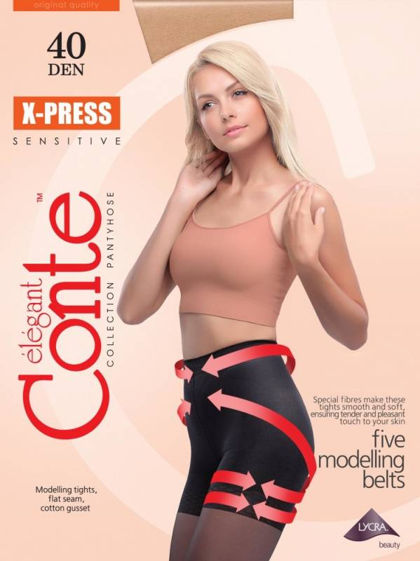 Conte X-Press 40 den sukkahousut natural