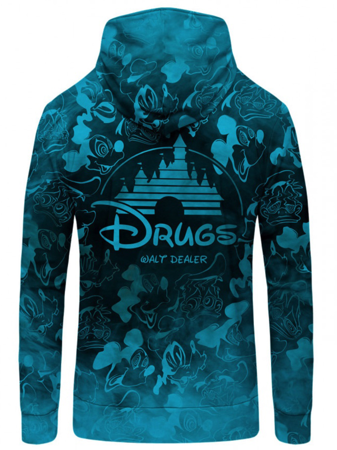Mr Gugu Blue Walt Dealer zip-up hoodie