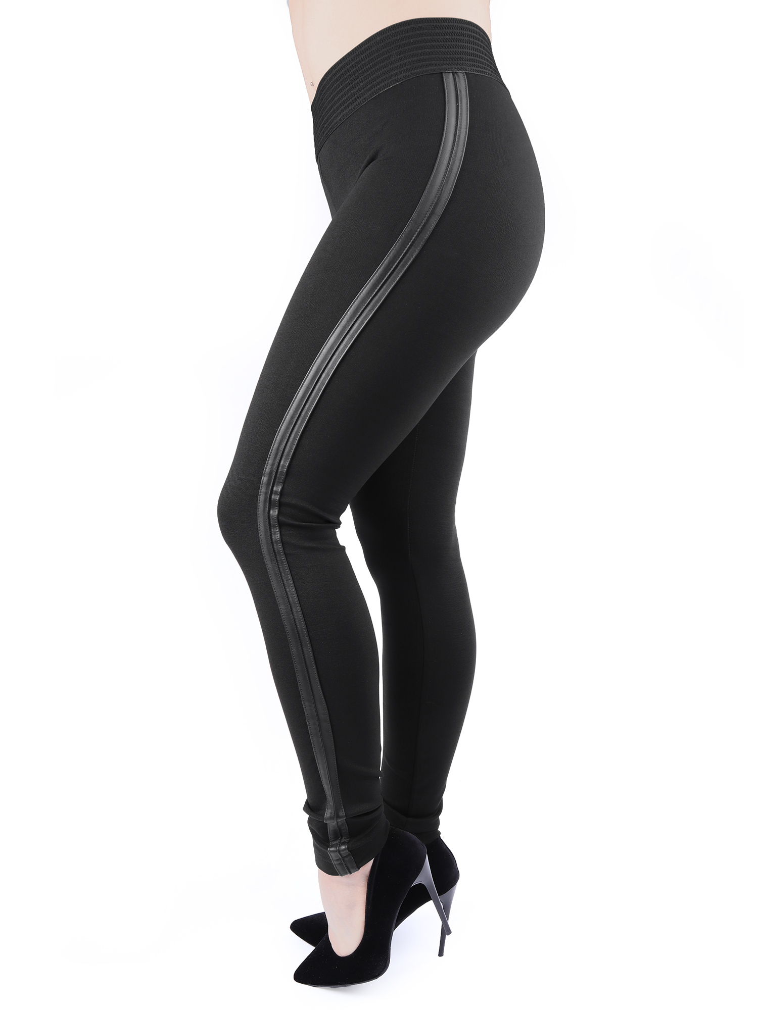 Conte Betty mustat leggingsit regular